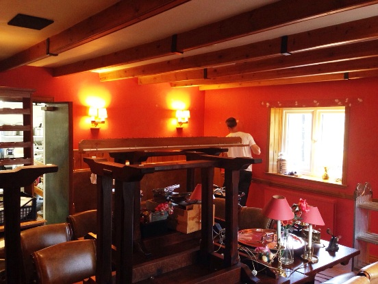 Decorating at The Pheasant Inn Kielder