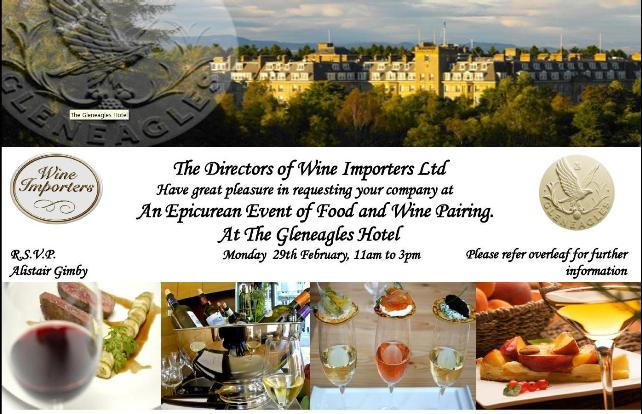 Epicurean event at Gleneagles