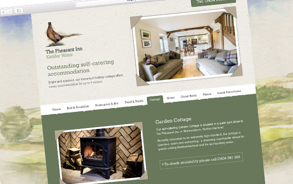 Pheasant Inn Northumberland new website